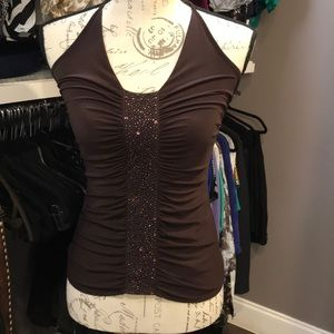 Vintage Laundry by Shelli Segal Brown Halter